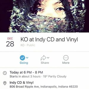 Tonight at 6PM! @ko.mpany will be playing on our stage! Come see her before she returns to China. 😊 #supportlocalmusic In addition to the lovely Ko, she will be joined with friends Jackson Sexson and Michael Raintree (aka Sean Oreo)!