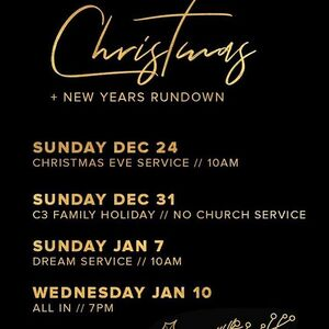 Can't wait to celebrate Christmas and ring in 2018 with my C3 Family!