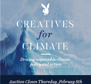 Creatives for Climate is Playboy's first-ever event dedicated to take on climate change. Playboy's mission is to wield the Rabbit and raise money for two world-renowned, climate-focused initiatives by partnering with some of our favorite artists in an online auction of their donated works.  CFC.playboy.com