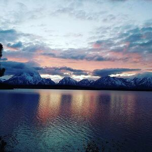 Great sunset to end a beautiful day with my family. Remembering how important spending quality time with family really is. #loveyou #tetons #sunset