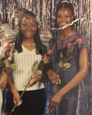 """So this is the picture that changed my life. 8th grade dance with my best friend April. She ova there lookin all poised and well put together and me... awkward af. Nigga I tried my HARDEST to be cute and this is how it came out. I got these pictures back and I was like Damn. I'm the ugly one. I never FELT ugly... I just knew I was, and my big sisters dumb ass made a song about my lips being so big so I knew these were facts. And I got this birthmark on my leg??? No. So I said okay Girl if you're gonna be ugly... then You'll be the smartest, most athletic, most thoughtful, creative, funniest, most ambitious, passionate, career driven person ever. Boys didn't like me so I didn't even factor them into my life. The goal was to smash on everybody, regardless. The main thing was I didn't wanna feel insecure about myself for the rest of my life so I made a conscious  decision not to, period. At 11 years old. Well things changed when I was around 17 and it's just been going on from there so that's cool. The irony of my life is not lost on me and I know exactly what I look like now but it still fucks with me sometimes ...the simplicity of being a model... because I'm still that 11 year old girl determined to be more, otherwise it's just too easy (For ME) Its funny though cuz dudes like to tell me """"I don't wanna tell you you're beautiful cuz I don't wanna big your head up"""" (yah, still 🙄) I just chuckle cuz they literally have NO idea...I NEVER cared."""