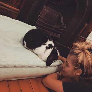 #bonding with my #goddaughter #cookie #cuzzyshouse 💓 Get it...we're both 'bunnies'... but I am totally besotted by this little girl #goodnightkisses 💋🐰💋