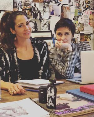 Planning and anticipating the launch of Baby + Momma Organics at the @violetgrey headquarters. 💋💥🧠 @cassandragrey