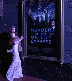 Traveled back to the 1930's for @christinehmcconnell's murder mystery/advance screening of #murderontheorientexpress last night 🎥 Such a lovely evening in a beautiful theater. Thank you so much @christinehmcconnell!! You are the hostess with the mostest! 😘😘😘#orientexpressmovie